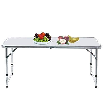 Mesa plegable de aluminio de 3 pies, mesa de camping portátil de ...