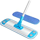 MR. SIGA Microfiber Mop,Aluminum Mop Frame and Aluminum Handle Size 40 x 12cm, 1 Free Microfiber Refill Included