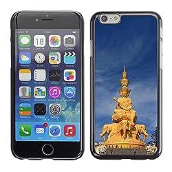 Licase Hard Protective Case Skin Cover - Architecture Thai Buddha Statue - Apple Iphone 6 Plus 5.5