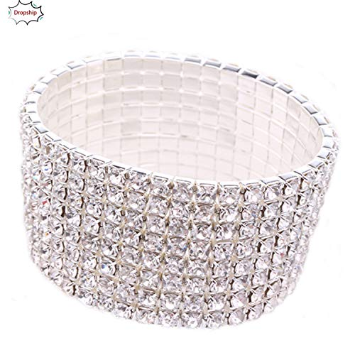 - Henraly Cute Creative Bracelet Rhinestone Stretch Silver Bracelet for Wedding Prom Party or Pageant Bling Bling DropShiping 18NOV5,China