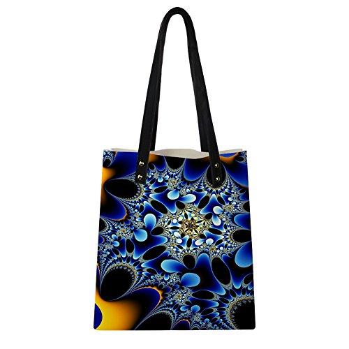 Advocator Print PU Leder Tasche mit Brieftasche für Frauen Casual Reise Handtasche Lehrer Totes Tasche Color-6 EZMZRRoC