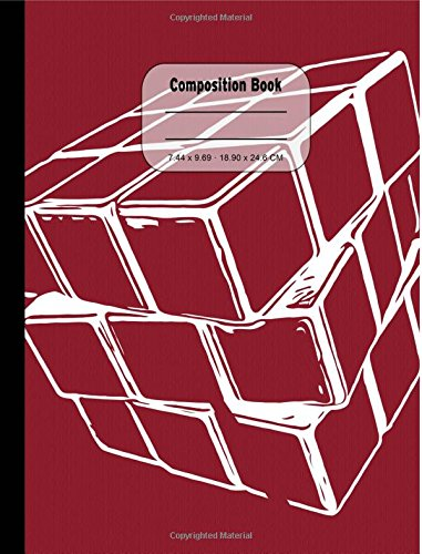 Red Puzzle Cube Wide Ruled Composition Book: 200 Pages, Wide Ruled Paper PDF