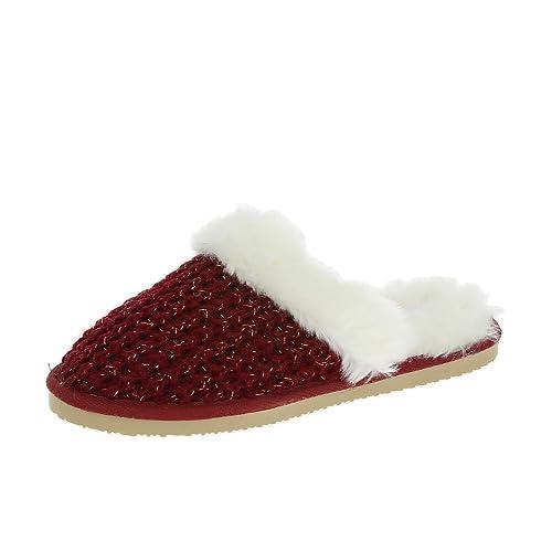Dunlop para Mujer Zapatillas Rojas Heidi: Amazon.es: Zapatos y complementos