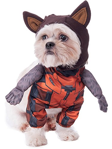Rubie's Marvel Walking Rocket Raccoon Pet Costume, Small ()