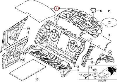 amazon bmw genuine sound insulating rear sound insulating roof 1999 BMW 323I image unavailable