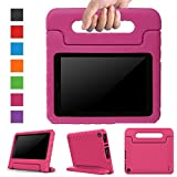 Surom All-New Fire HD 8 2017 Case,Kids Shockproof Convertible Handle Light Weight Protective Stand Cover Case for Fire HD 8' Display Tablet (7th Generation, 2017 Release Only), Rose Pink