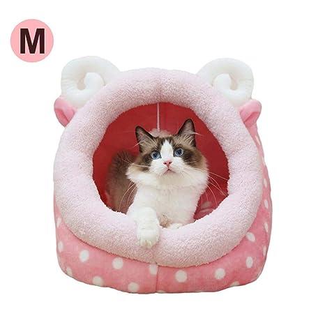 Caseta para Perro, caseta extraíble Lavable Nounours caseta Perro Tienda yurta Tienda Nido para Gatos