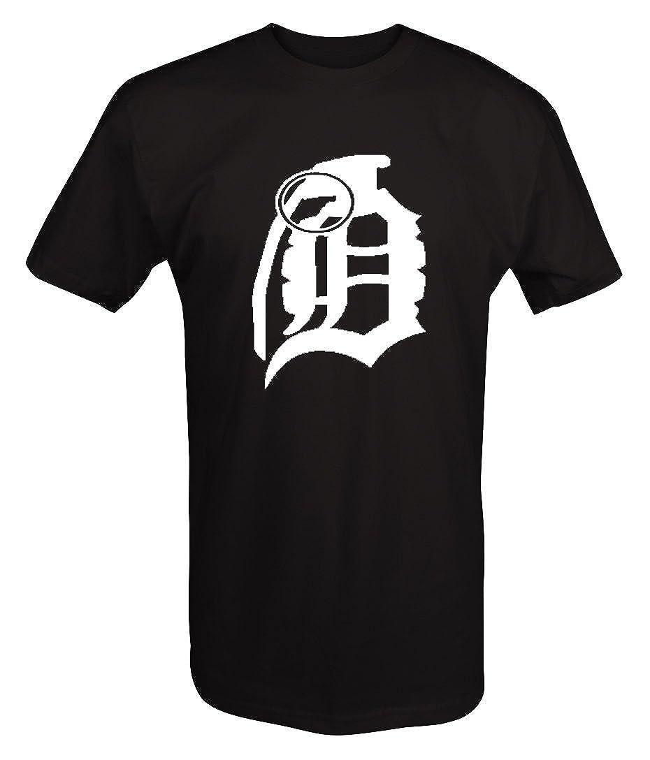 d bomb da bomb hand grenade old english d detroit t shirt amazon com