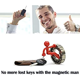 Fun Magnetic Man | 8 Pcs Super Fantastic Key Holder with Wall Climbing Man Design | Ultra Strong Magnet Holds Up to 1.4 Lbs | Black, Red, Blue, Green, Yellow, and Pink | 1037