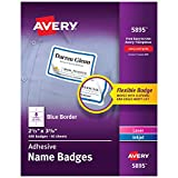 """Avery Premium Personalized Name Tags, Print or Write, Blue Border, 2-1/3"""" x 3-3/8"""", 400 Name Tags (5895)"""