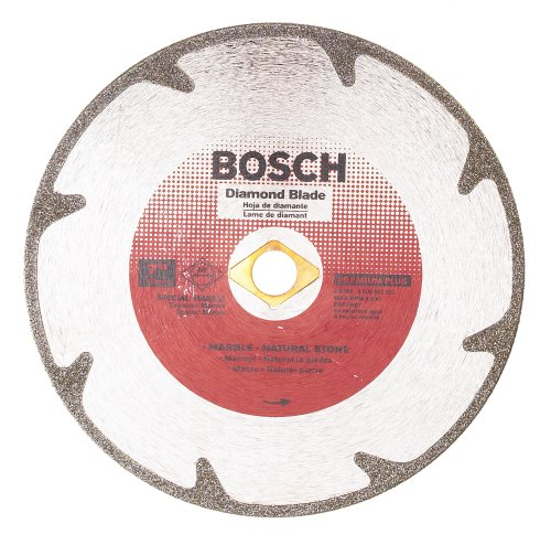 Bosch DB768 Premium Plus 7-Inch Dry or Wet Cutting Continuous Rim Diamond Saw Blade with 5/8-Inch Knockout Arbor for Marble (Diamond Blade Plus Premium)