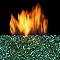 Duluth Forge Vented Fire Burner-14in, 45,000 BTU, Natural Gas Glass Burner, Black
