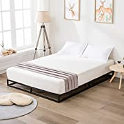 LAGRIMA 6 Inch Low Profile Reinforced Metal Bed Frame-Modern Studio Platforma Bed, Mattress Foundation, Boxspring Optional, with Wood Slats Support,King Size