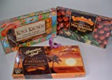 Hawaiian Chocolate Variety Pack: Maui Caramacs, Kona Krunch and Chocolate Covered Macadamia Nuts (6 Boxes Total)