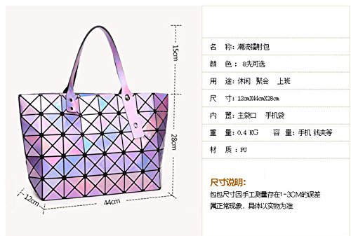 Sac 2 Bag Handbags Women Geometry Tote Bag Women Luminous Shoulder Pearl Quilted Bags YYaqZ0OP