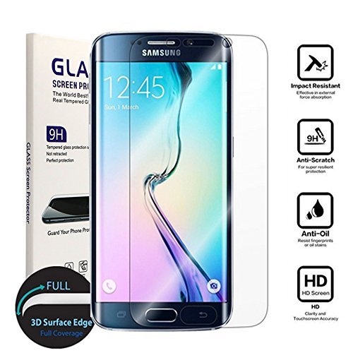 Galaxy S7 Screen Protector,Samsung Galaxy S7 Screen Protector Tempered Glass, Carryberry [3D Full Curved Edge] Screen Protector for Samsung Galaxy S7 [Edge to Edge], [1-PACK]