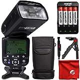 DigitalMate DM680N E-TTL SpeedLight 18-180mm Power Zoom Flash, Bounce, Swivel, LCD Display and Case for Nikon D7500 D7200 D7100 D500 D5600 D5500 D5300 D5200 D3400 D3300 D610 D750 D810