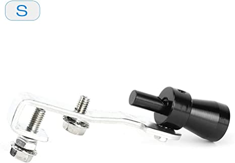 KKmoon Turbo Suono Whistle Auto Tubo di Scarico Terminale di Scarico BOV Simulatore Valvola di Scarico Alluminio 10,2 /× 1,8 cm Blu