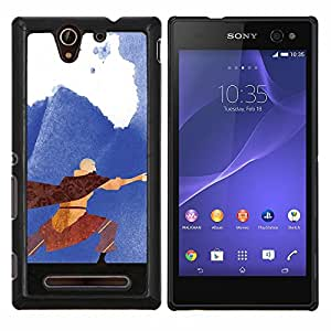 Gaga Case / Airbender Painting For Sony Xperia C3 D2533 Duro Snap en el tel???¡¯????fono celular de la cubierta