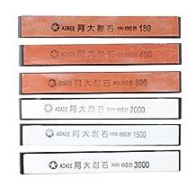 AGPtek®6 Sharpening Stones for Kitchen Knife Sharpener Professional Sharpening System