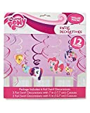 American Greetings Amscan AMI 675513 My Little Pony Swirl Decorations, AMI 675513 1, Multicolored