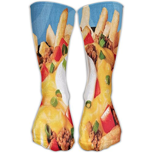 French Fries Cake Unisex High Stockings Athletic Socks For Outdoor 30cm Sock One - Bazaar Las Grand Vegas