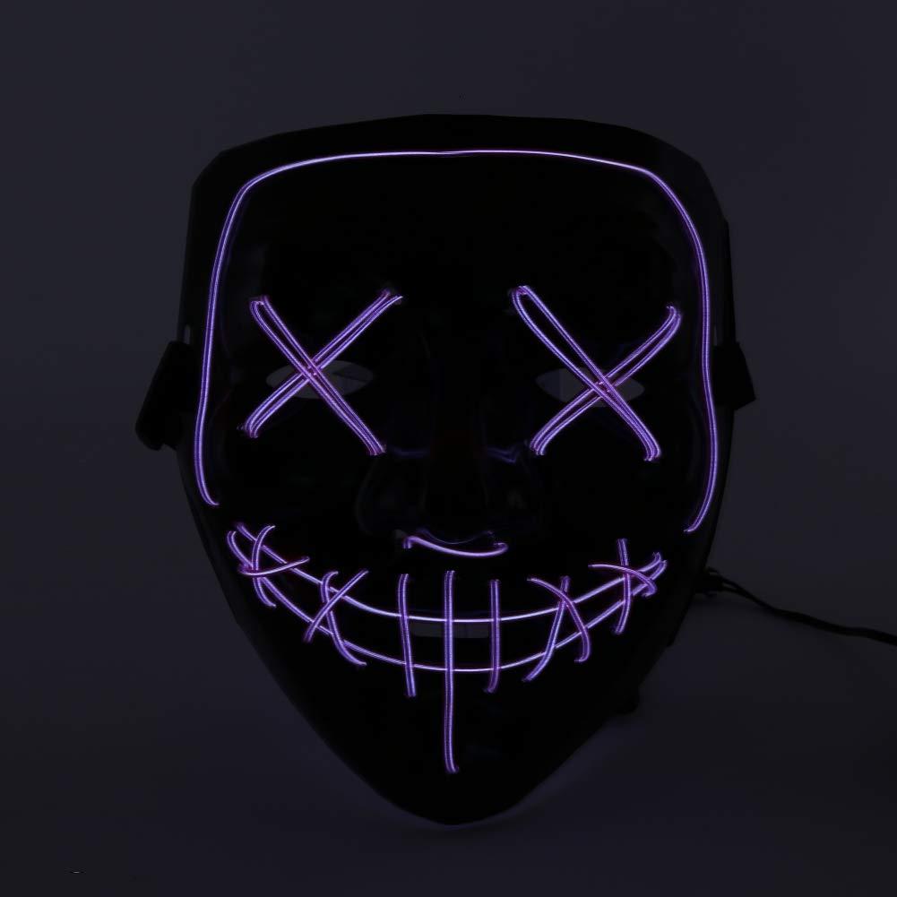 Wenasi Halloween LED Mask Costume Mask EL Wire Light up Mask for Festival Cosplay Halloween Costume