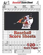 Baseball Score Sheets: Baseball Score Sheets   Baseball Score Pads   Baseball Scoring Book   Baseball Scorekeeper   Book Baseball Scorecard   Size: 8.5 x11 inches 120 Pages