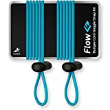 Flow Goggle Strap Kit (2-Pack) - Replacement Bungee Cord Straps for Swim Goggles - Solid Colors (Solid Blue)