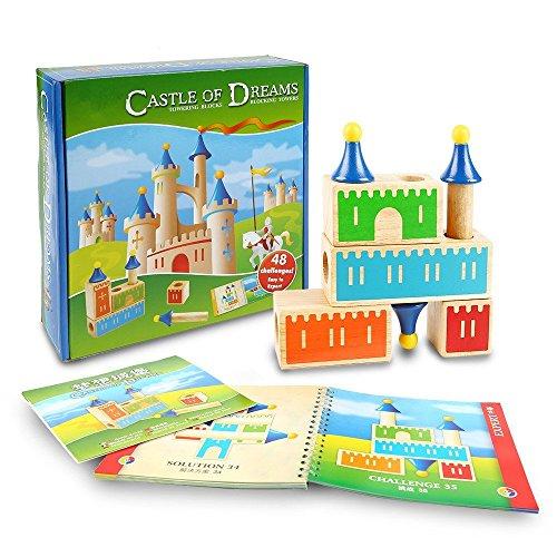 Sainsmart Jr  Castle Of Dream Towering Block  Wooden Puzzle  48 Challenges
