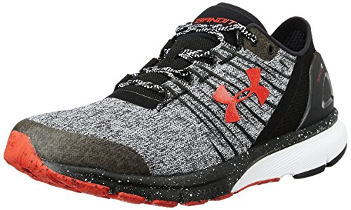 huge discount f84b4 f2b8d Under Armour Men s Charged Bandit 2 Black White Pomegranate Ankle-High Running  Shoe -