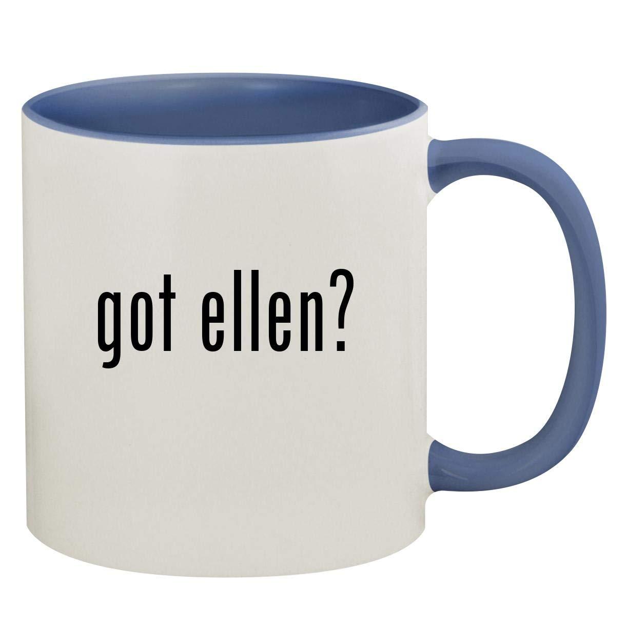 got ellen? - 11oz Ceramic Colored Inside & Handle Coffee Mug, Cambridge Blue