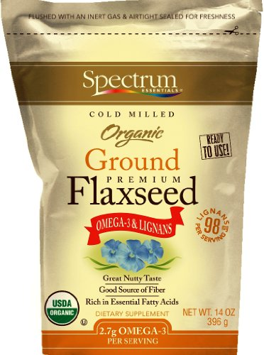 Spectrum Essentials Organic Flaxseed Ground, 14-once Pouch (Pack de 4)