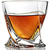 ELIDOMC Twist Whiskey Glasses - Set Of 4-10 OZ Crystal Whiskey Glass For Drinking Bourbon Scotch Cocktail Irish Whisky, 100% Lead Free Old Fashioned Glasses And Bourbon Glasses With Luxury Gift Box.