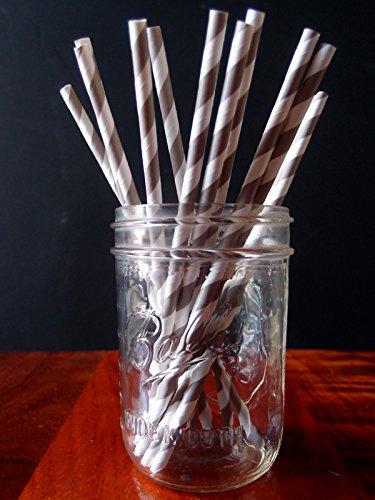 Quasimoon Striped Patterned Straws PaperLanternStore