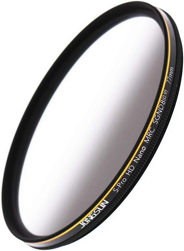 3-Stop Grauer Verlaufsfilter Neutraldichtefilter CSGND8 18-Schichten Mehrfachbeschichtung JONGSUN 62mm ND Filter Optisches Glas Schott B270 0,9