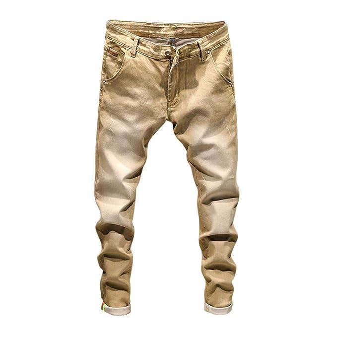 selezione più recente di prim'ordine dal costo ragionevole LiucheHD-2019 Uomo Jeans Sottile Strappati Pantaloni Slim ...
