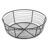 Round Black Wire Serving Basket - 10''Dia x 3 1/4''H