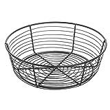 Round Black Wire Serving Basket - 10''Dia x 3 1/4''H