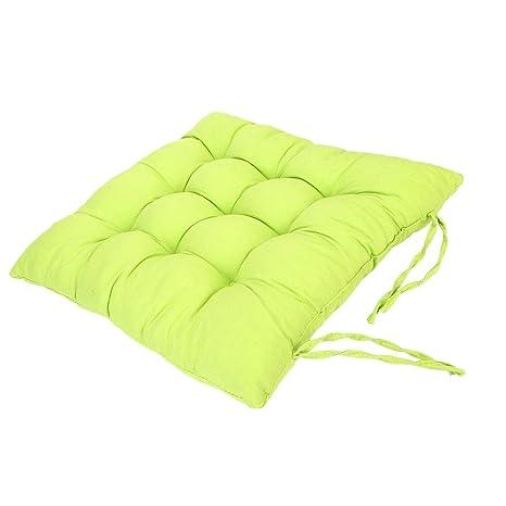 Cojines de Asiento Cojín Amortiguador de Sillas Comedor Al Aire Libre Jardín Muebles Decoración - Verde