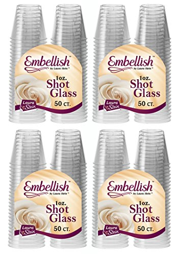 Embellish Hard Plastic 1oz Clear Shot Glass 200 Count by Embellish