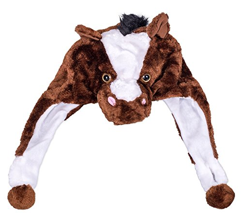 Animal Head Super Soft Plush Childrens Hat - Horse]()