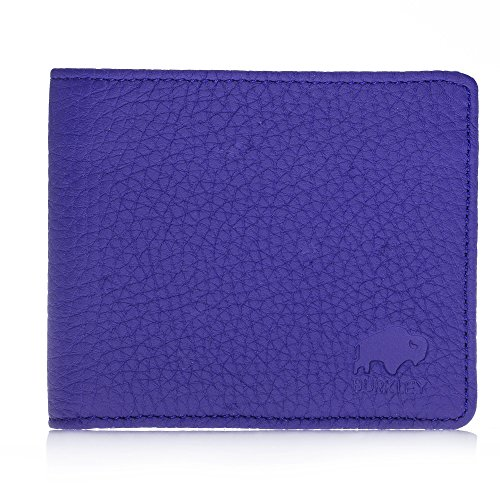 Burkley Case Leather Blue Wallet Hand Premium Holder Classic Sax in Fold made Leather Turkish Comes with Carlos Bi ID rBdHxrqFS
