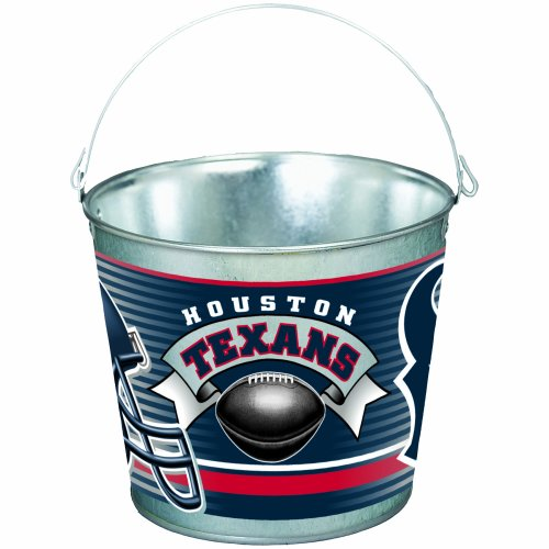 NFL Houston Texans 5-Quart Galvanized Pail