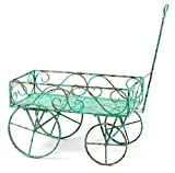 Deer Park Ironworks TC103-BLU Garden Wagon, Large, Light Blue
