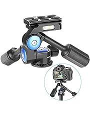 Neewer 360 graden draaibare statiefkop 3-weg kogelkop met 1/4 inch snelwisselplaat voor statief, monopod, camera schuifregelaar, licht statief, belastbaarheid tot 10 kilogram