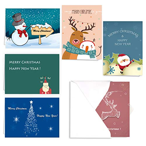 Christmas Greeting Cards Holiday Card Celebrate the Season Merry Christmas Collection - 30 Xmas Cards & Envelopes, 4 x 6 Inches