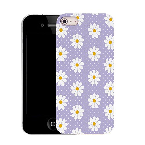 Mobile Case Mate IPhone 4 clip on Silicone Coque couverture case cover Pare-chocs + STYLET - purple seductive daisy pattern (SILICON)