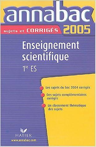 Téléchargement Enseignement scientifique 1e ES epub pdf