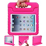 iPad air 2 case, ipad 6 case, ANTS TECH Light Weight [ Shockproof ] Cases Cover with Handle Stand for Kids Children for iPad air 2 (6) (iPad Air 2 (6), Pink) by Ants tech
